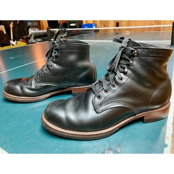 1d89f2f93e6 Black Wolverine Evans 1000 Mile Boot Size 10 EUC